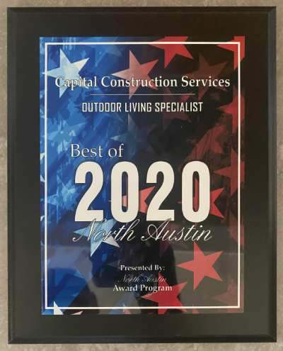 2020 Outdoor construction services award in Austin